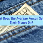 what does the average person spend their money on?