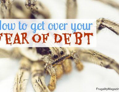 Debt can be a scary subject, but that doesn't mean you shouldn't tackle it. Here's how to get over your fear and debt and finally become debt free once and for all!