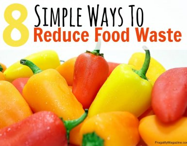8 simple ways to reduce food waste. Save money by throwing less food away - here are some practical tips to achieve just that! #frugality #frugal #food
