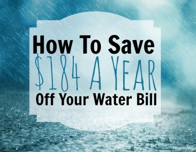 Here's an easy way to save money around the home. Find out how to use less water and you'll also spend less money too! Here's how...