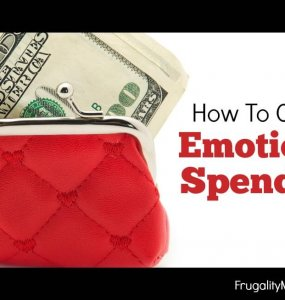 How to control your emotional spending so you can live on a budget, pay off debt and start to save money for the future.