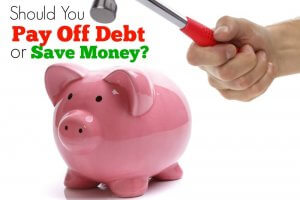 Should you pay off debt or save money? Here's the math behind the perfect answer to this complex question about debt elimination...