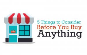 Questions you must ask before buying anything if you want to live on a budget and save money.
