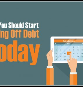 Wondering when you should start paying off debt? Here are five reasons why you should probably start today...