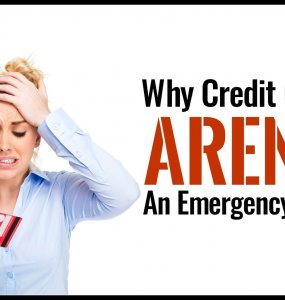 When you're trying to manage your money it's tempting to ignore an emergency fund and aim to use your credit card in case of emergency. Here's why that might not be the best financial decision for your life.
