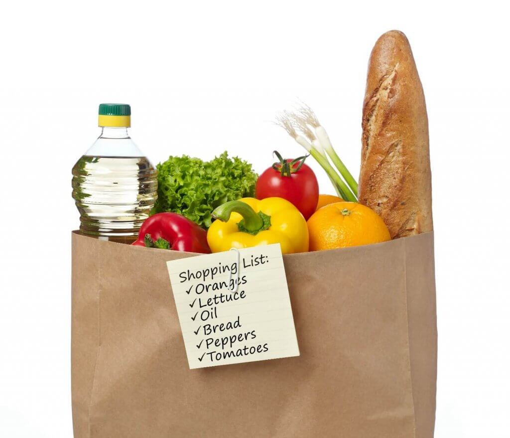 To reduce food waste, make a shopping list before you visit the grocery store. That way, you'll avoid being tempted by bargains you'll never actually eat.