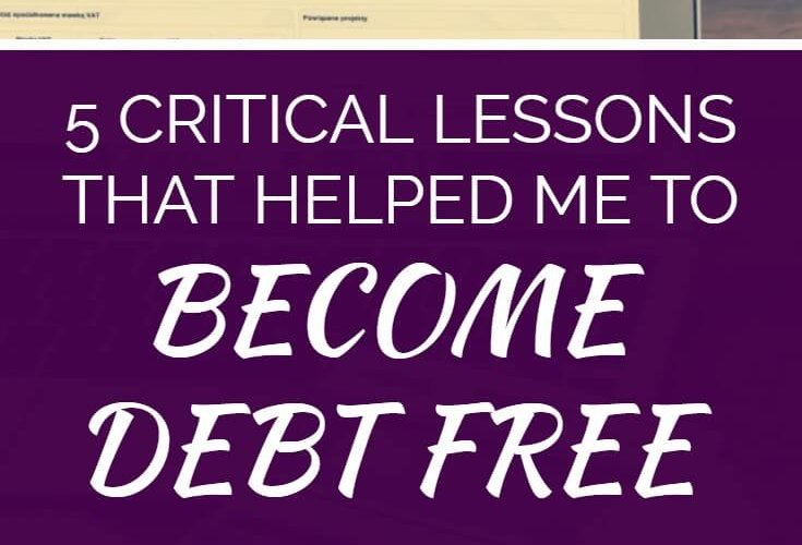 I struggled for years to pay off debt. No matter what I did I just didn't seem to be able to get ahead. What was I missing? Then, out of the blue, I started to win. Things started to fall into place. My debt started to drop. But what made all the change? Click here to read the five critical lessons that revolutionized by debt repayment and helped me achieve a debt free lifestyle.