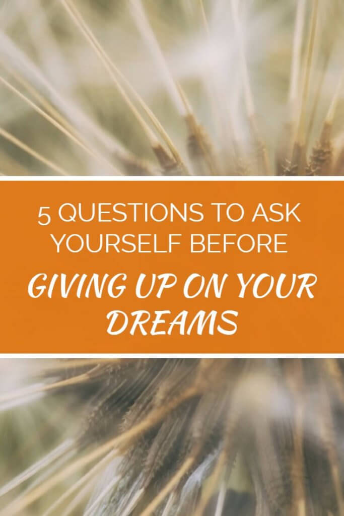 Don't give up on your financial dreams of a debt free life, filled with joy and freedom until you've asked yourself these 5 critical questions - they could just change your entire outlook.